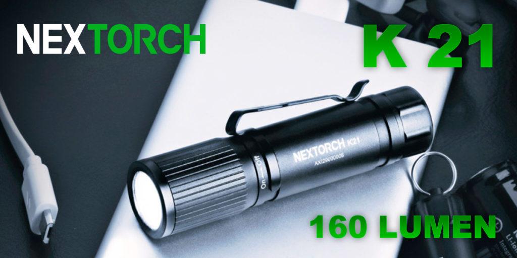 Nextorch K21 lommelykt - Praktisk nyhet fra Nextorch